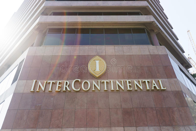 Facciata intercontinentale dell'hotel immagine stock libera da diritti