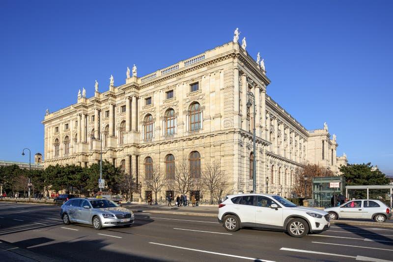Facciata laterale del museo di Art History il giorno di inverno soleggiato Vienna, Austria, Europa immagine stock libera da diritti