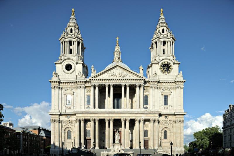 Facciata Londra Inghilterra Regno Unito della st Pauls Cathdral immagine stock