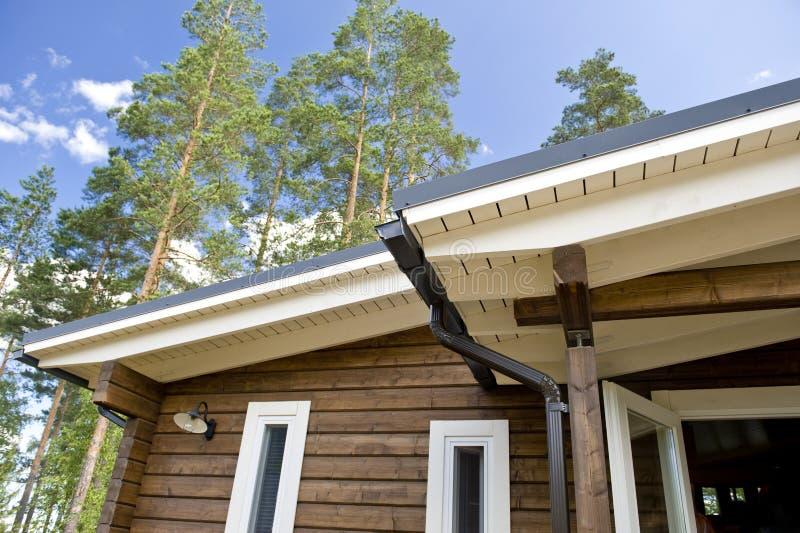 Facciata scandinava della casa fotografia stock