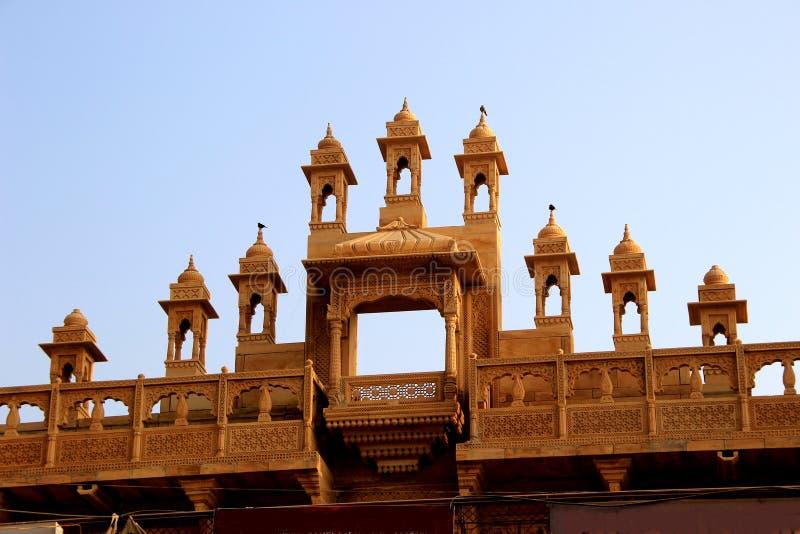 Facciata superiore di costruzione, Jaisalmer fotografie stock