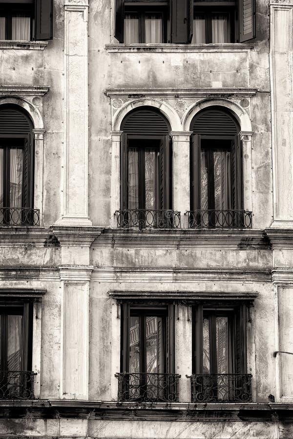 Facciata veneziana tradizionale Rebecca 36 immagini stock libere da diritti