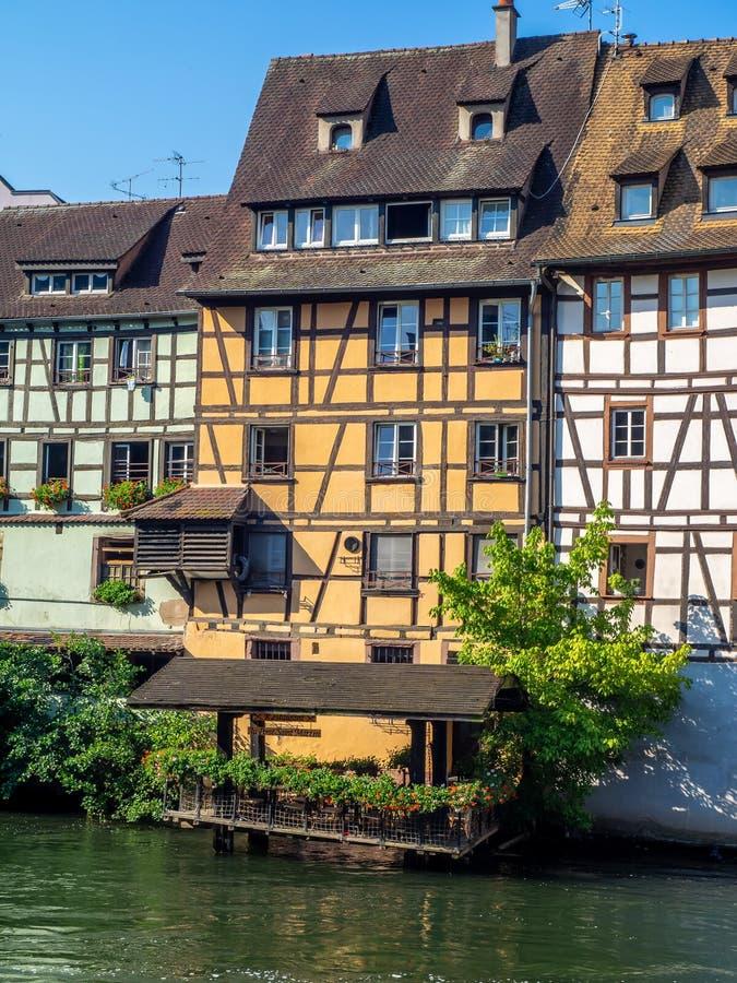 Facciate degli edifici di Strasburgo immagine stock libera da diritti