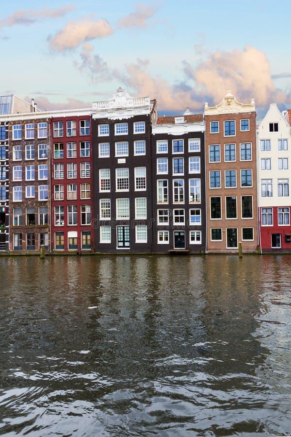Facciate dei monumenti storici, Amsterdam immagini stock libere da diritti