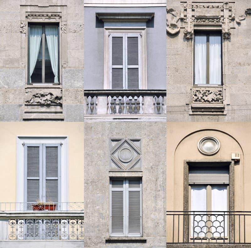 Facciate delle case a milano immagine stock immagine di for Case a milano
