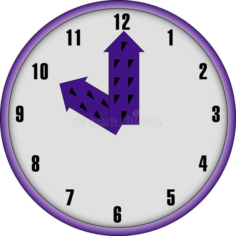 Download Facd Dell'orologio Con Le Mani Viola Illustrazione Vettoriale - Illustrazione di bianco, timepiece: 7315305