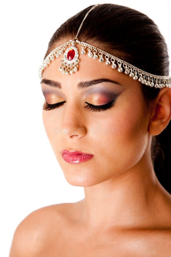 Face árabe da beleza imagens de stock royalty free