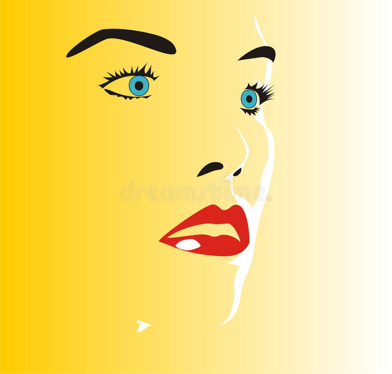 Download Face stock vector. Image of yellow, eyes, blue, vector - 10694958