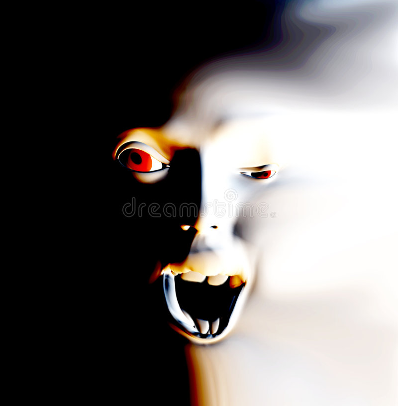Face 18 do horror imagens de stock