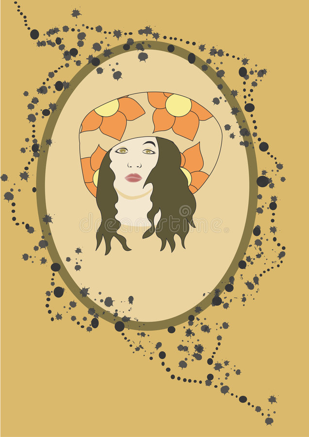 Download Face stock illustration. Image of vintage, face, girl, decoration - 282748