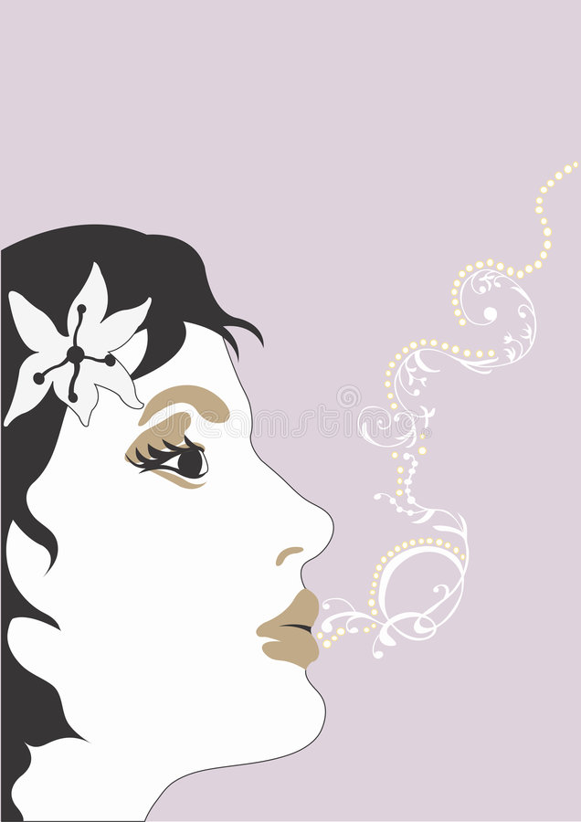 Download Face stock illustration. Image of woman, decoration, design - 359524