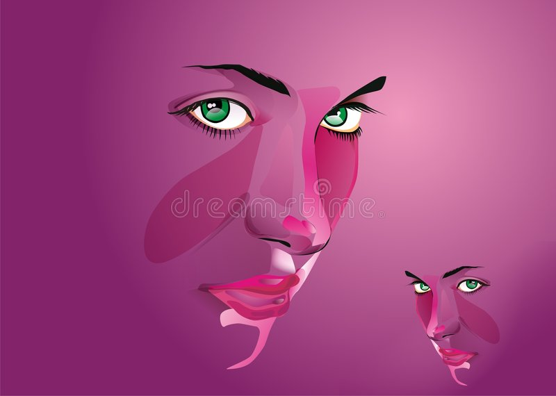 Download Face stock vector. Illustration of girl, lips, womans - 8053177