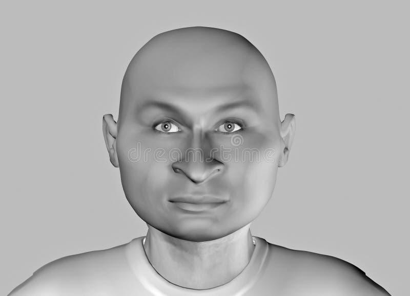 Face-9 drôle illustration de vecteur