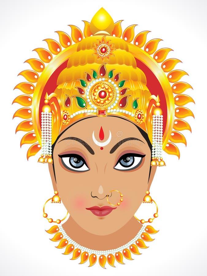 Face abstrata do durga da deusa ilustração stock