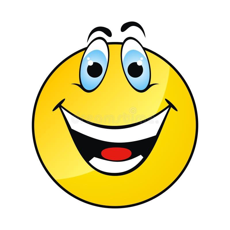 Face amarela feliz do sorriso ilustração do vetor