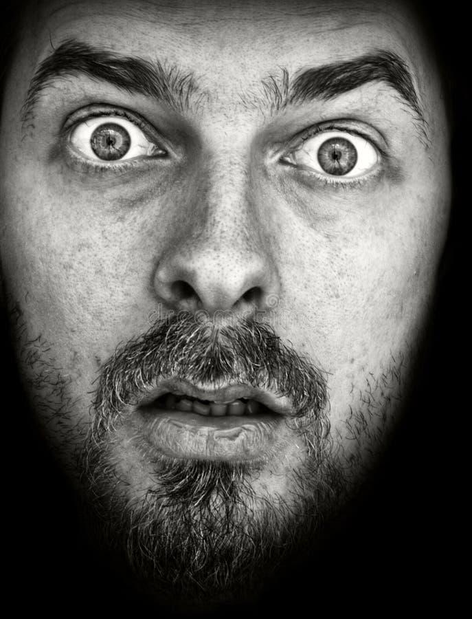 Download Face Of Amazed Man Isolated On Black Stock Photo - Image: 5789586