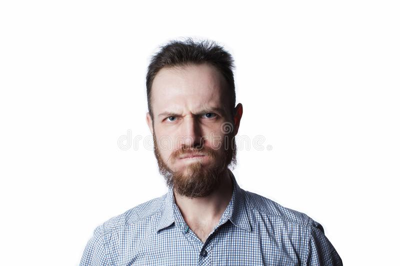 Face of an angry and insult male royalty free stock images