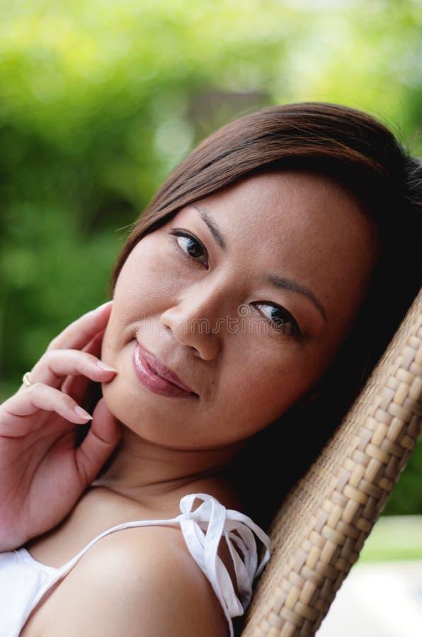 Face asiática imagem de stock royalty free