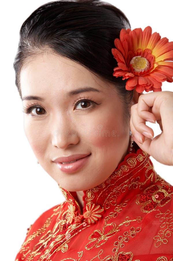 Face asiática da mulher imagem de stock