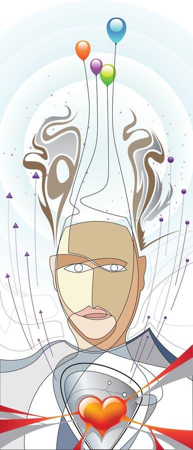 Face_balloon ilustración del vector