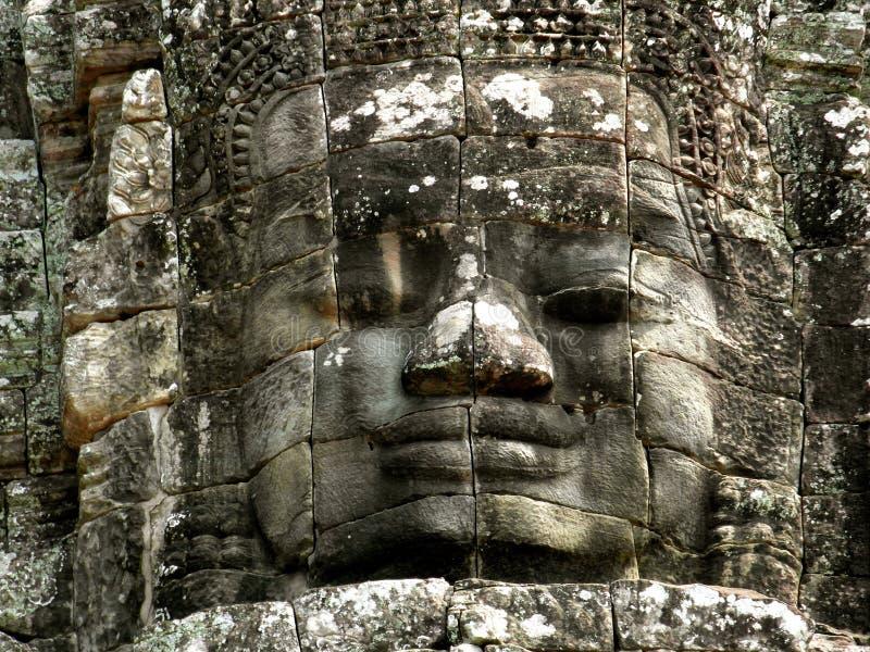 Face Bayon Temple Angkor Wat Cambodia royalty free stock image