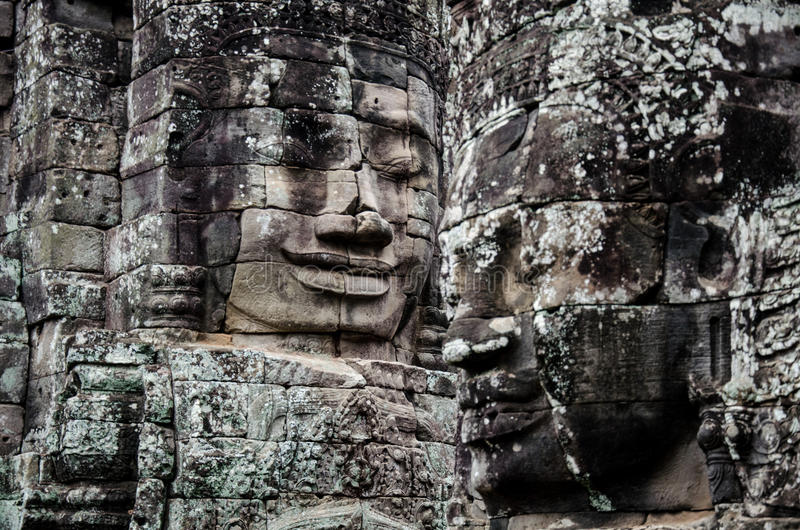 Download Face of Bayon Temple. stock image. Image of temple, east - 83706237