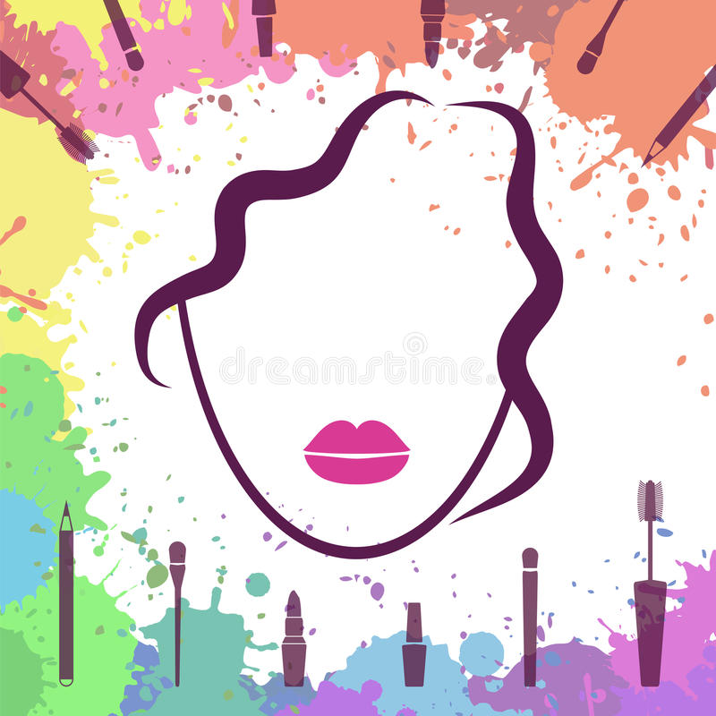 Royalty Free Vector Download Face Of Beautiful Girl Makeup Artist Fashion Icon Make Up Elements