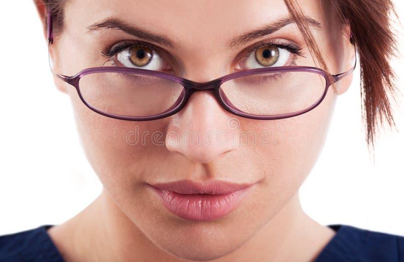 woman wearing glasses nude