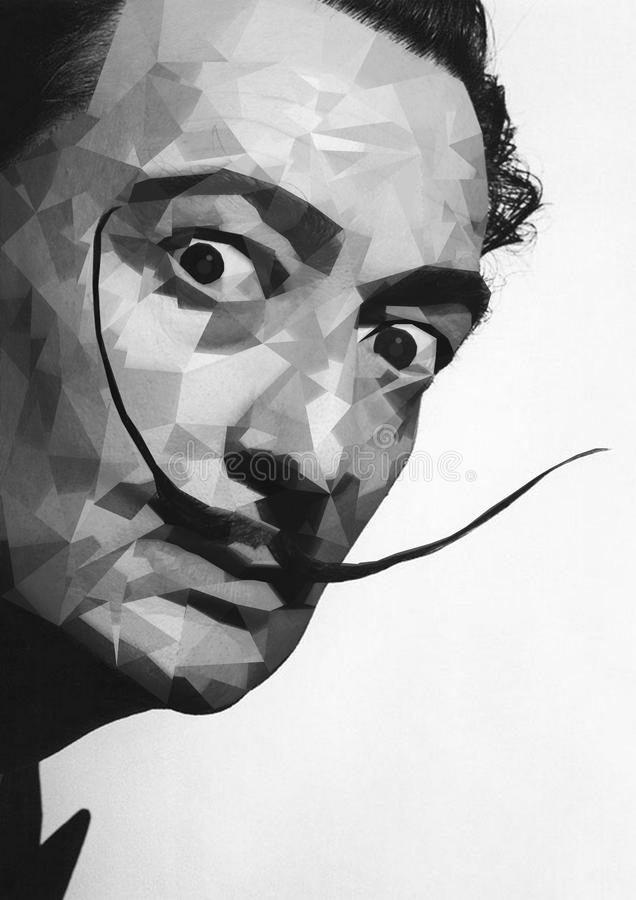Face, Black And White, Art, Portrait stock image