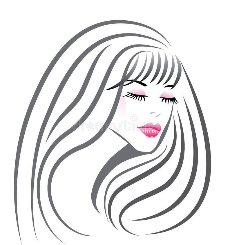 Face bonita da menina ilustração stock