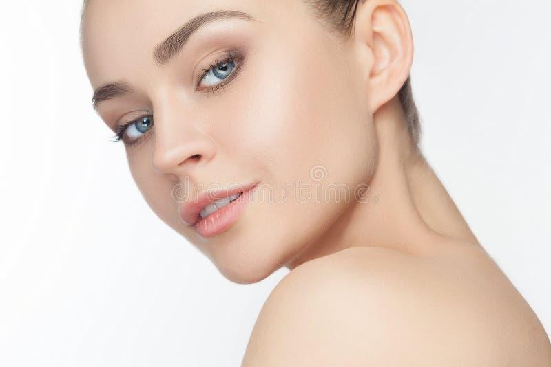Face bonita da menina Pele perfeita fotografia de stock