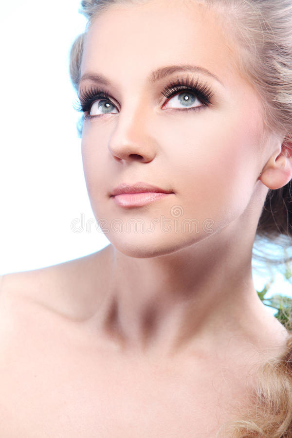 Face bonita da mulher imagens de stock