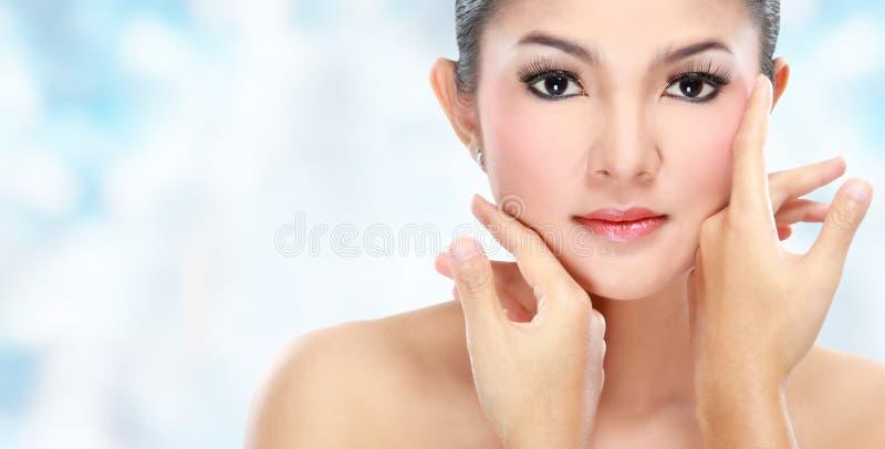 Face bonita da mulher imagem de stock
