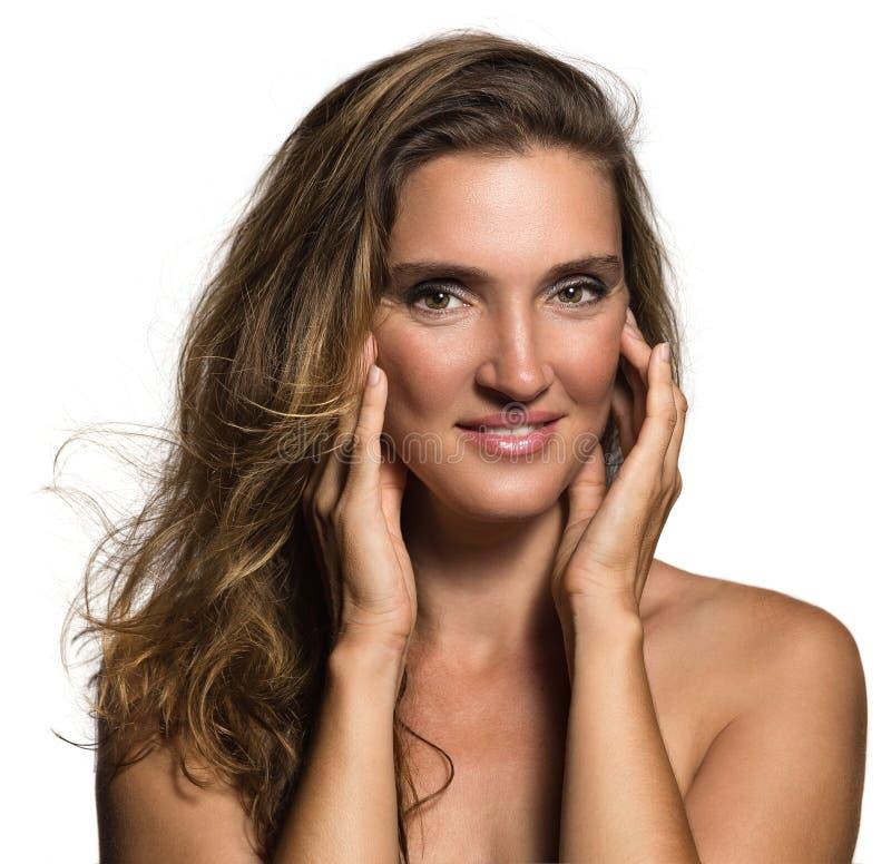 Face bonita da mulher fotografia de stock royalty free