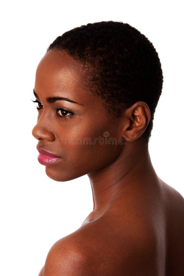 Face bonita da mulher africana com boa pele fotos de stock