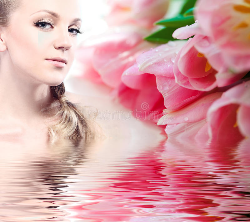 Face bonita da mulher da saúde fotografia de stock royalty free