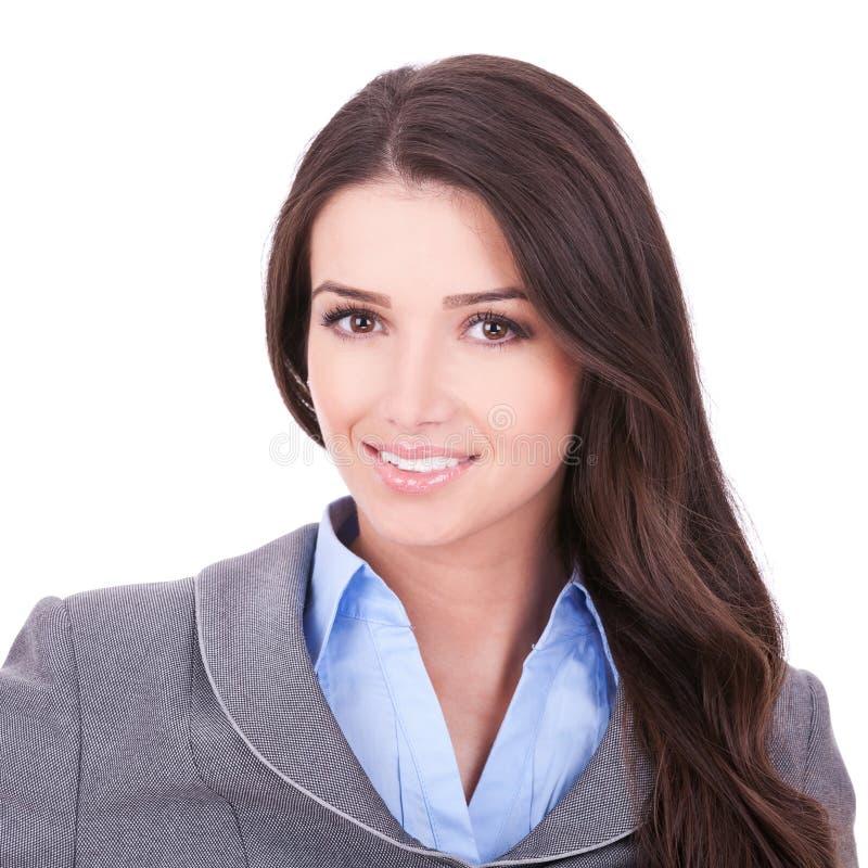 Face bonita de mulher de negócio foto de stock royalty free