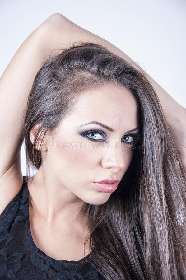 Face bonita de uma mulher imagens de stock