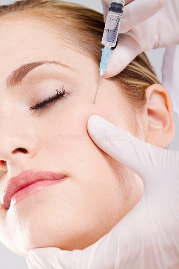 Face botox royalty free stock photography
