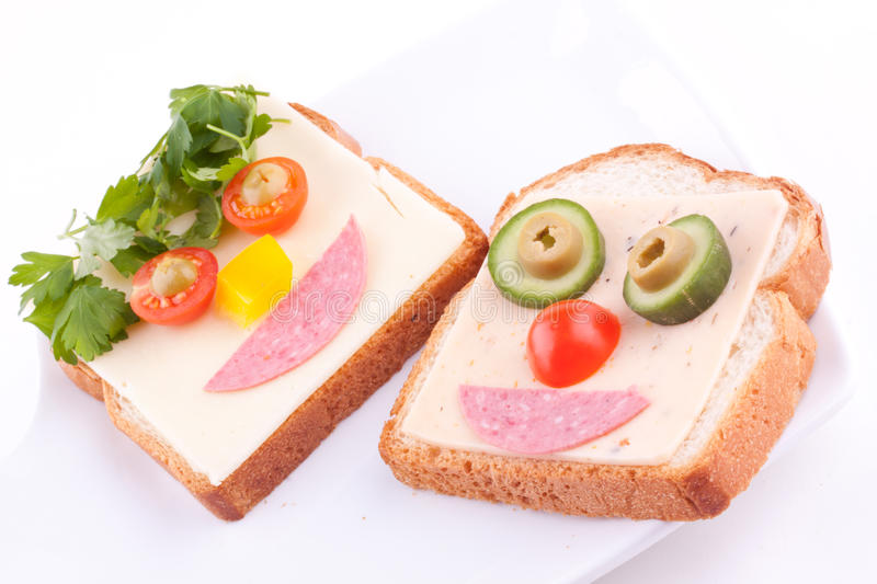 Face on bread royalty free stock photo