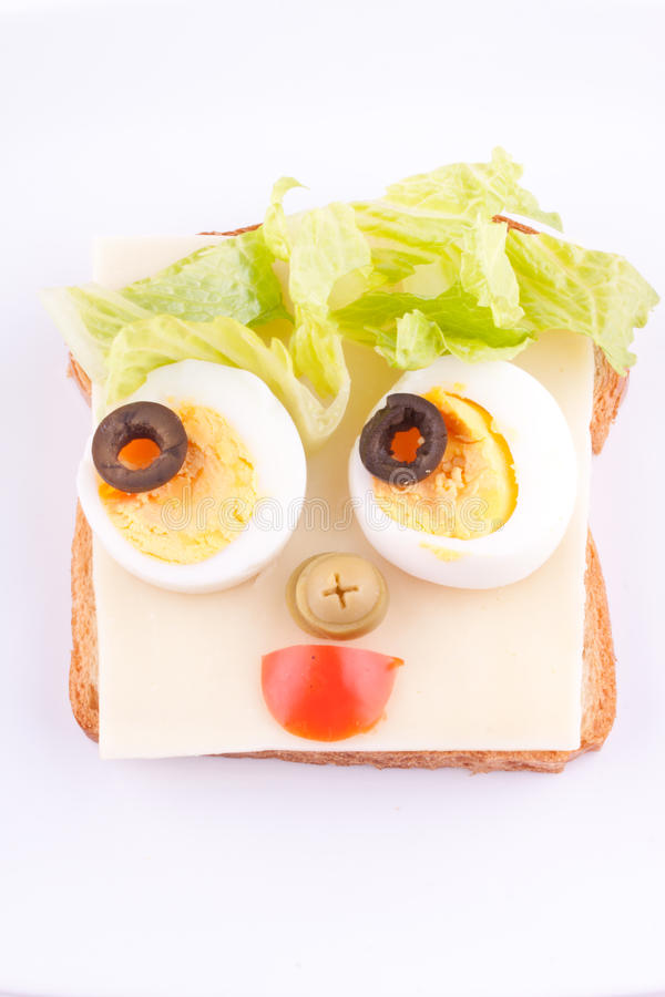 Face on bread royalty free stock photography