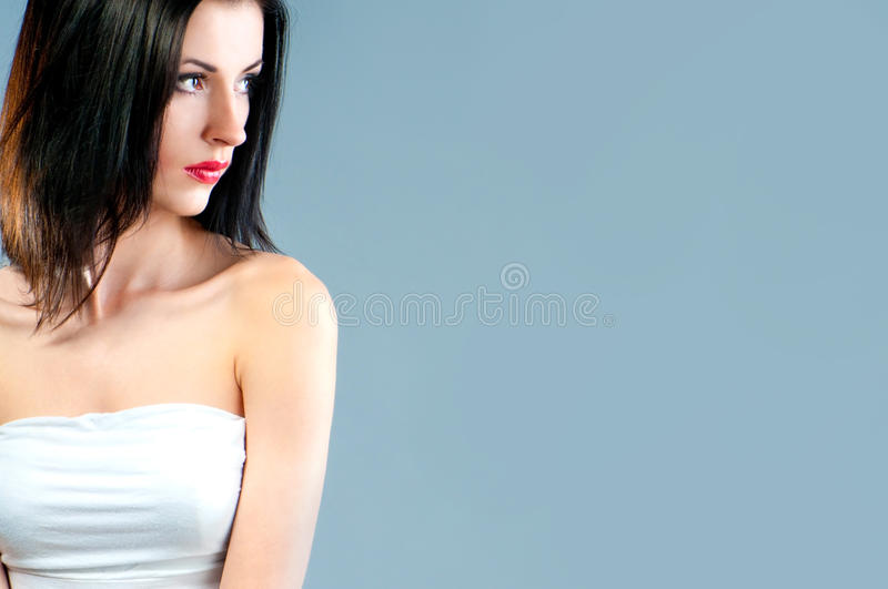 Face With Bright Fashion Make-up Stock Photo