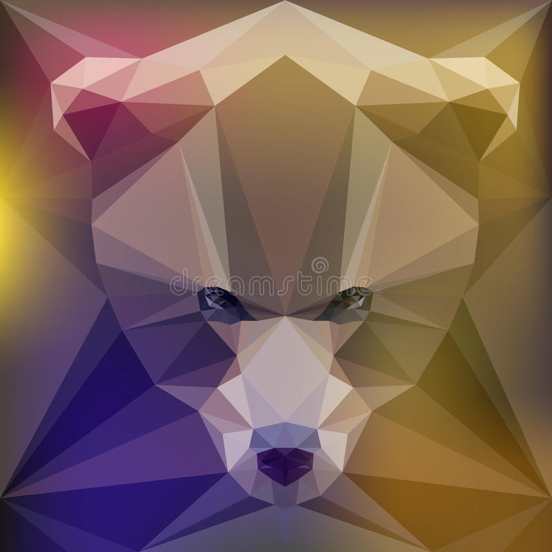 Face of a brown bear royalty free illustration