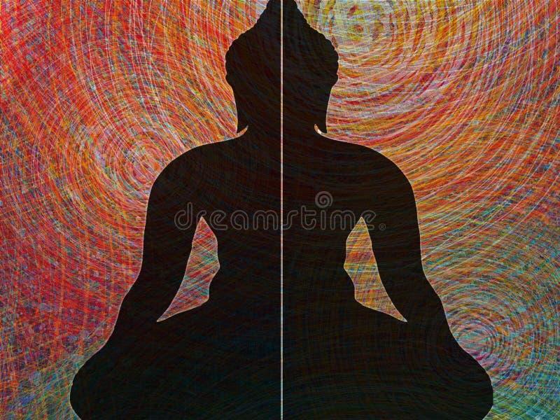 Face of buddha abstract background. Illustration art vector illustration
