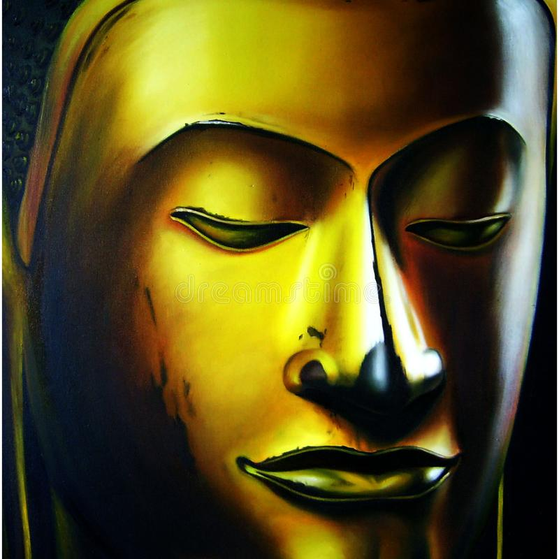 Face of buddha abstract background. Illustration art royalty free illustration