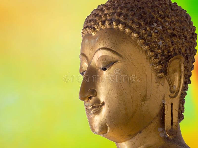 Face of buddha abstract background. Illustration art stock illustration