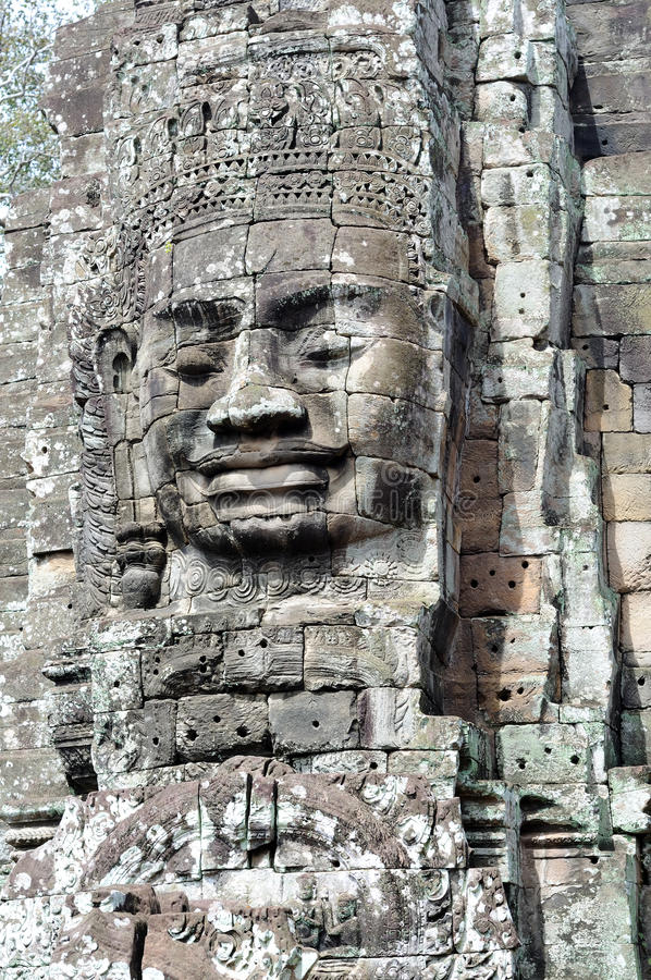 Download Face of the Cambodian King stock image. Image of angkor - 13455869