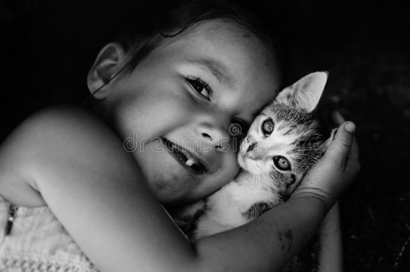 Face, Cat, Black, Black And White royalty free stock photo