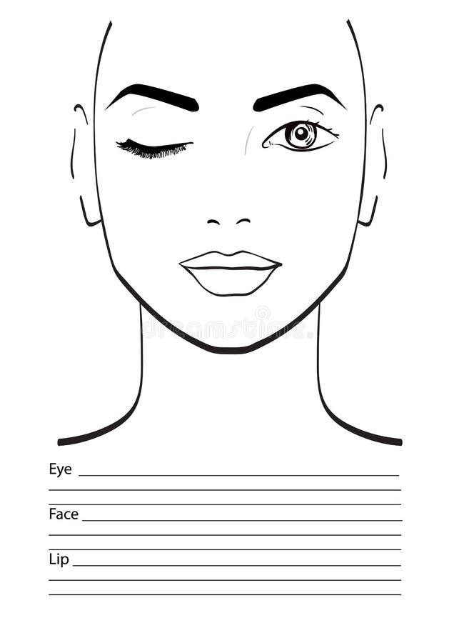 Face chart makeup artist blank stock illustration illustration of download face chart makeup artist blank stock illustration illustration of base head maxwellsz