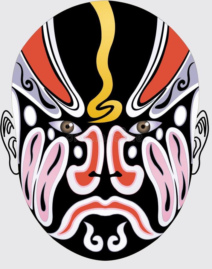 Face chinesa da ópera ilustração stock